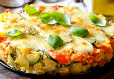 Torta di verdure e mozzarella